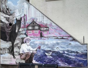 John Muir Mural in Prestonpans on the John Muir Way